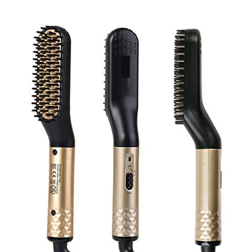 Planchas para el pelo Peine del cepillo de pelo de la barba enderezadora multifuncional de Alisado peine del pelo del bigudí de rodillos Pinzas Estilo Herramientas Accesorios pelo de la barba Styler h