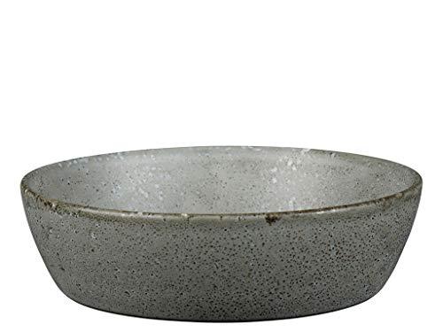 BITZ Suppenschüssel/Suppenschale aus robustem Steinzeug, 18 cm im Durchmesser, grau