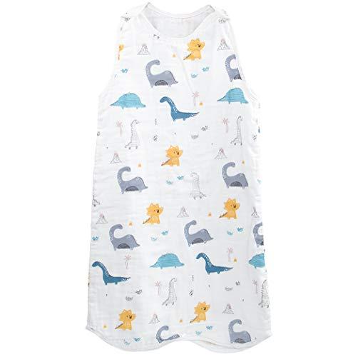 赤ちゃん スリーパー ベビー 寝袋 4重ガーゼ 綿100% 柔らかい 寝冷え防止 春 夏 秋 かわいい (45*80cm)