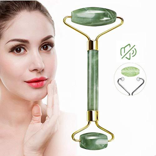 Jade Roller for Face - Facial Massage Tool for Anti Aging Wrinkles and Skin Rejuvenate -100% Natural Jade Stone for Face Eyes (Jade roller)