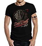 LOBO NEGRO Original Design T-Shirt für den aktiven Dart-Spieler: Dart Devil - Score 180-XL