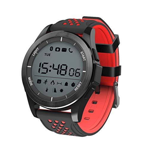 AUOKP Smart Watch Ip68 wasserdichte F3 Smartwatch Outdoor Fitness Tracker Nachricht Anruf Erinnerung Tragbare Geräte Für Android Ios, Rot