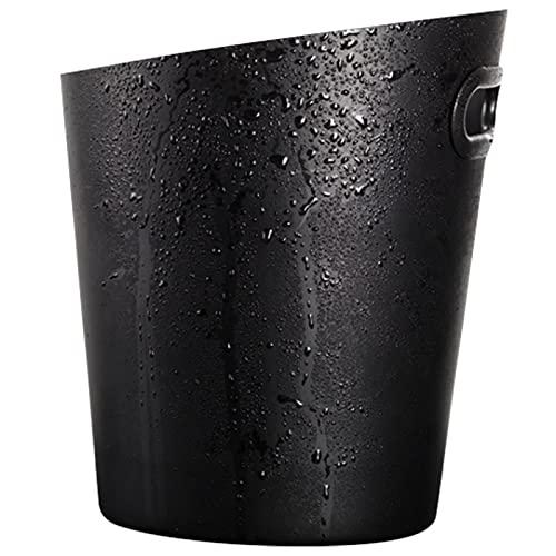 WSFANG Barcaza de Barra de Barra Cubo de champán de Acero Inoxidable Barra de cucharón de Cerveza KTV Cubo de Hielo Comercial y Cubo de Vino Bar, KTV, Cocina (Color : Black)