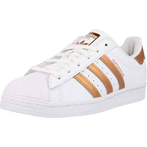 adidas Superstar W, Zapatillas de Gimnasio Mujer, FTWR White Copper Met Core Black, 39 1/3 EU