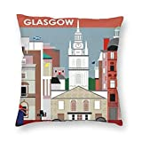 Nat Abra Retro Style Travel Schottland Glasgow Poster