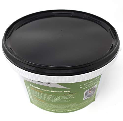 DWT-Germany Pasta Montagewax 101426, 3 kg, para montaje de neumáticos, color negro