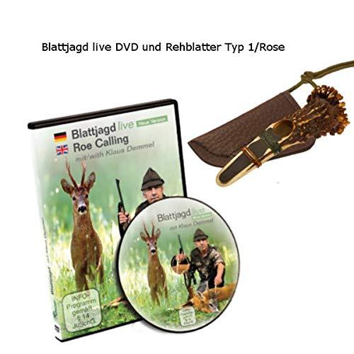 K & S Rottumtaler Wildlocker Blattjagd Set Rehblatter und DVD Blattjagd live (Set mit Rehblatter Typ Rose)