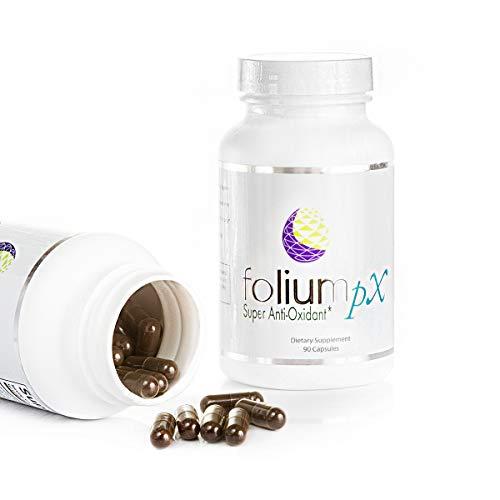 Folium pX Immune System Support, Full Body Cleanse, Heavy Metal Detox, Mercury, Lead, Arsenic, Barradium, Gadolinium, Cadmium Poisoning, Super Antioxidant Supplement, Pine Bark, Grape-Seed Extract