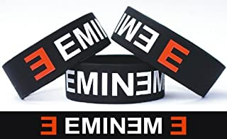 SayitBands Eminem One Inch Silicone Wristband Wrist Band Merchandise Bracelet