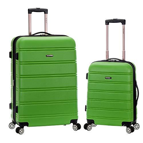 Rockland Melbourne Hardside Expandable Spinner Wheel Luggage, Green, 2-Piece Set (20/28)