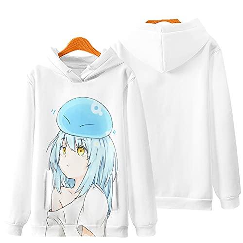 ZFF-BT 2021 New Anime Hoodie Pullover - Pull à impression Rimuru Tempest 3D Imprimer Cosplay Coplay Sweater 2021 Nouveaux Pulls à manches longues pour hommes et femmes (Color : 1i, Size : S)