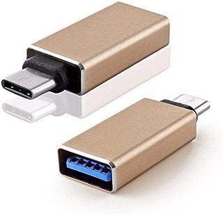 محول معدني OTG من منفذ تايب سي type-C الى يو اس بي USB,ذهبي