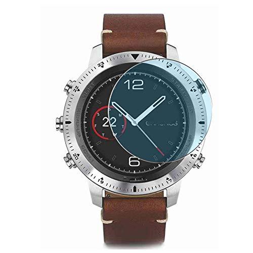 Vaxson 3 Stück Anti Blaulicht Schutzfolie, kompatibel mit Garmin Fenix Chronos smartwatch Smart Watch, Displayschutzfolie Bildschirmschutz [nicht Panzerglas] Anti Blue Light