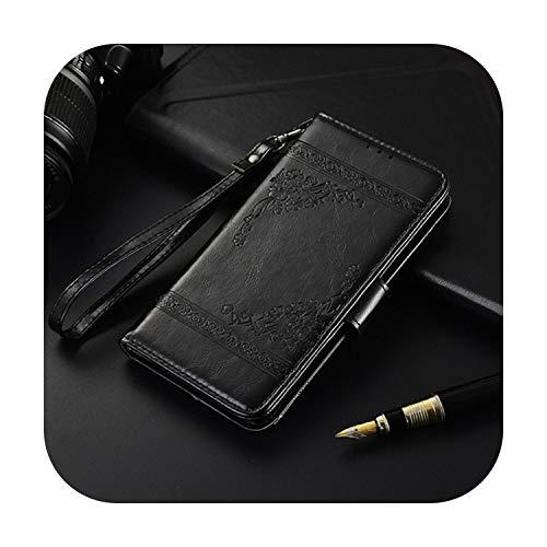 Funda tipo cartera para Xiaomi Mi5S Mi 5S A1 A3 A2 Lite Funda Libro para Xiaomi Redmi 6 5 Plus 4A 5A 6A 7A 8A Note 4 4X 5 7 8 Pro 8T-Black Yl-Mi5S Mi 5S