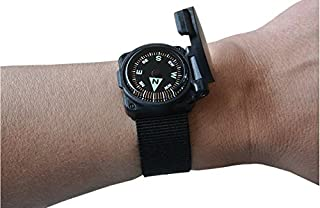 Survival Metrics Escape & Evade Wrist Compass II - Luminous - Grade A - Flip-Top Shell