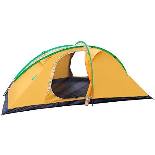 JOMSK Mochila Tienda de campaña con Carry río Bolsa de Tienda de campaña Junto al Aire Libre Carpa Impermeable portátil Carpa Familiar (Color : Yellow, Size : One Size)