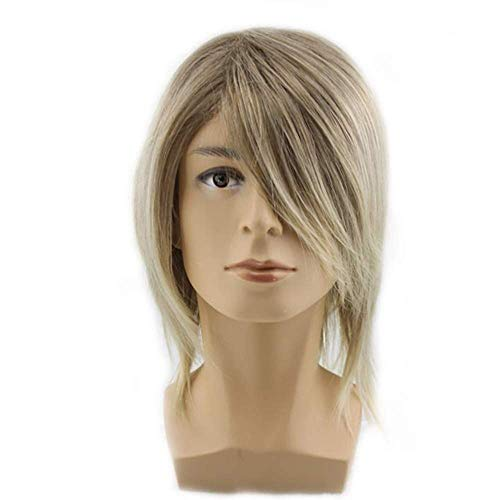 Hairpieces Europe and The United States Hot Anime Short Wig Universal Cosplay Anime Men s Gold Harajuku Style Anti Warping Short Hair