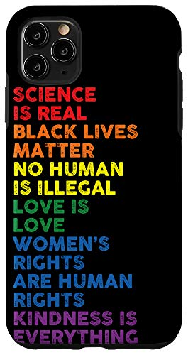 iPhone 11 Pro Max Distressed Science Is Real Black Lives Matter LGBT Pride Case