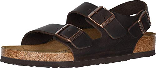 Birkenstock Milano - Oiled Leather (Unisex) Habana Oiled Leather 40 (US Men's 7-7.5, US Women's 9-9.5) Regular