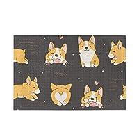 Akiraki ジグソーパズル コーギー いぬ 犬柄 ハート ブラウン かわいい 可愛い 500ピース パズル 木製 ピクチュアパズル 大人用 減圧 子供用 知育 おもちゃ puzzle 38x52cm