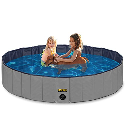 Outdoor Swimming Pool Bathing Tub - Portable Foldable - Ideal for Pets - Large 47' x 12'