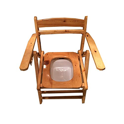 Toilettenstuhl, Klappbare Armlehne Aus Massivem Holz Toilettenstuhl, Alter Mann-Toilettensitz, Schwangere Frau, Toilette, Behinderte, Squat, Große Praktische Toilette Klappbarer Toilettenstuhl
