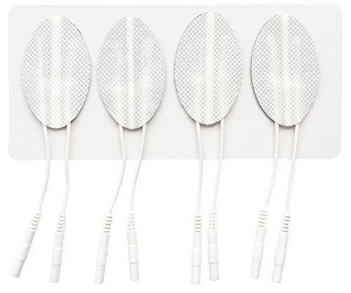 TensCare - 4 electrodos Reutilizables, Autoadhesivos, Pregelificados para la Cara – Compatibles con cualquier Electrostimulador – Eficaz para la Tonificacion y Reducción de Arrugas (E-CM3050)