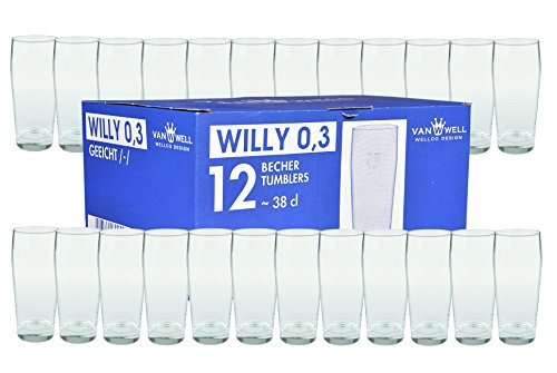 Van Well 24er Set Bierglas Willibecher 0,3L mit Eichstrich