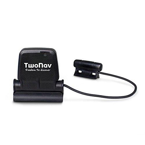 TwoNav - Sensor de Cadencia y Velocidad Dual Compatible con GPS y Movil, Conectividad Ant+™ y Bluetooth® Smart, Negro