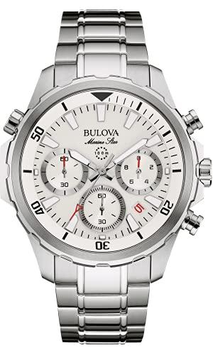 Bulova Herren Chronograph Quarz Uhr mit Edelstahl Armband 96B255