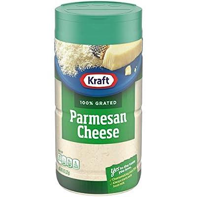Kraft 100% Grated Parmesan Cheese Shaker (8 oz Bottle), Set of 4