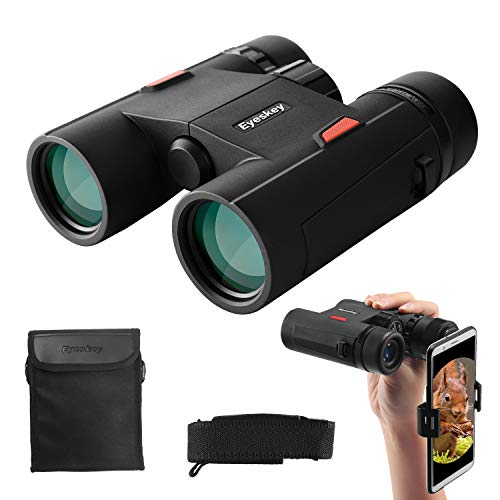 Eyeskey Wayfarer 8x32 Compact Binoculars for Adults and Kids with