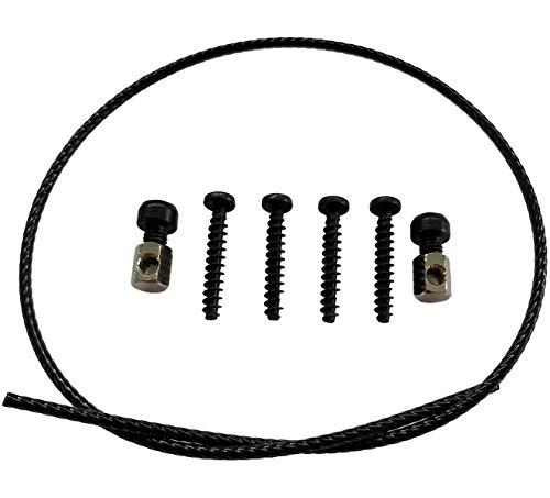 Ersatzteil Set für Klickfix Lenkeradapter, Ersatzteile für KlickFix Fahrradkorb Halterung, Schrauben, Seil und Klemmschraube