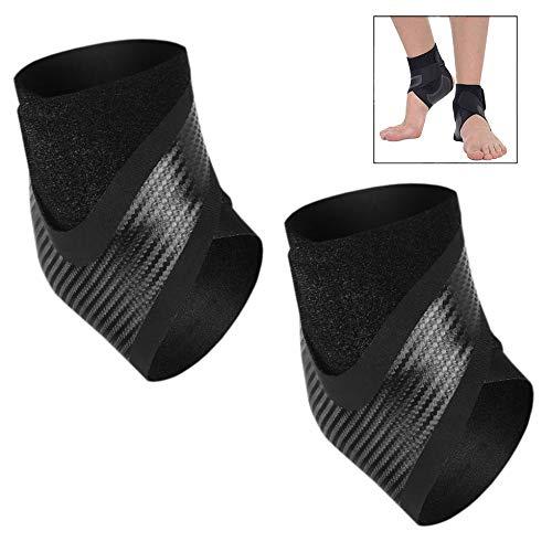 XLKJ 1 Paar Fußgelenk Bandage, verstellbare Sprunggelenkbandage Fußgelenkstütze Fußbandage Knöchel-Stützhülse Für Damen und Herren