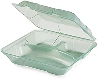 Eco-Takeouts, BPA Free, Green Reusable Plastic to-Go Boxes, 3-Compartment, 9