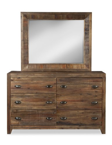 Hot Sale Magnussen B2375-29 River Ridge Wood 6-Drawer Dresser with Landscape Mirror