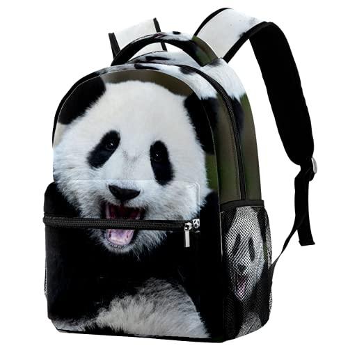 Mochila escolar con diseño de panda de animales, mochila de viaje, informal, para mujeres, adolescentes, niñas y niños