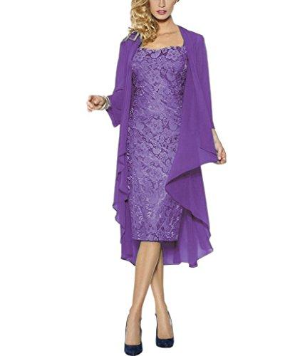 Rachel Weisz Lace Grosse groessen Brautmutterkleider mit Jacke Fuer Hochzeitskleider Festliche Kleider Gr 48 Lavender