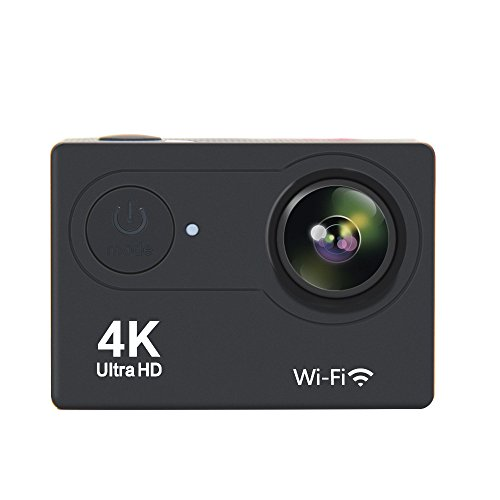 LEAPEX H9 4K Action Camera, Waterproof Full HD Wifi Sports Camera with 4K25/ 1080P60 Video, 12MP Photo and 170 Wide-Angle Lens, 18 Mountings Kit, 2 Batteries (Black)