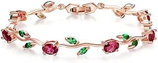Yellow Chimes Exclusive Latest Rose Chain Swiss Zircons Designer Bracelet for Women & Girls