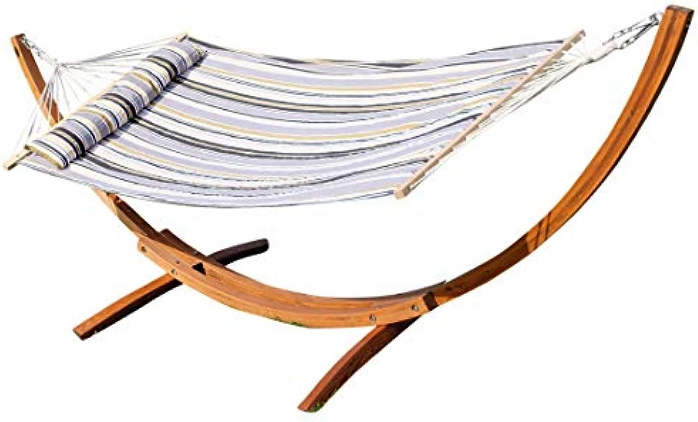 320cm Hngemattengestell mit Hngematte Gestell Lrche Holz mit Stabhngematte gefüttert und Polster Schrauben aus Edelstahl Mod.NAGUA von AS-S