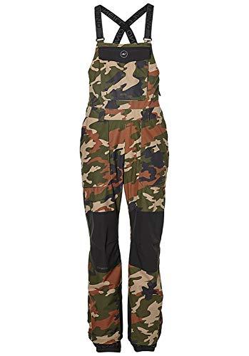 O'NEILL Shred Bib Pants Pantalones de esquí, Hombre, Green AOP W/Green, Extra-Small