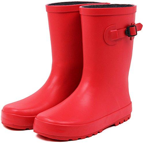 (セレブル) Celeble レインブーツ キッズ 女の子 男の子 ジュニア 長靴 雪 子供靴 レッド 18.0