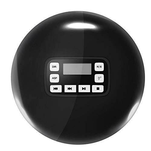ZYJ Tragbarer CD-Player, Bluetooth CD-Player HiFi Player Cd Walkman für vorgeburtliche Bildung/Lernen,Black