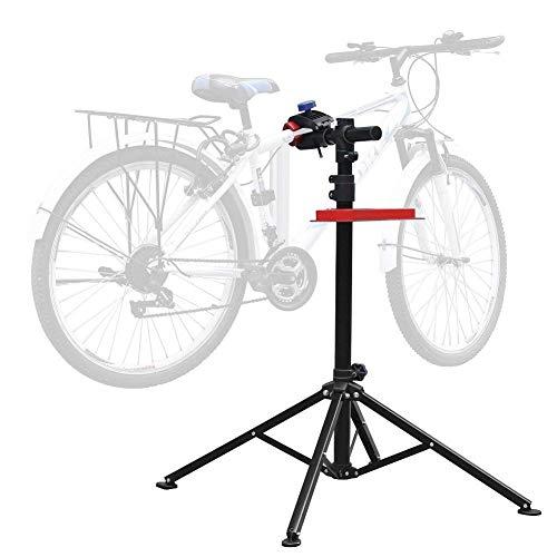 Amzdeal Pied d'Atelier pour Vélo VTT Réparation Hauteur Réglable 115cm-170cm, Support Stand de...