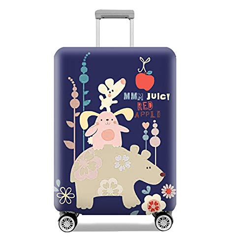 Luggage Cover Cute Animal Elastic Wear Waterproof Suitcase Cover Protector for 18-32 Inch XL Code 29-32 Inch Apple Rabbit