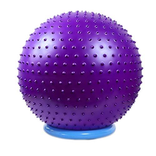 TONG Bola de Yoga Bola de Fitness Bola de Masaje Engrosada a Prueba de explosiones, ecológica, sin Sabor, Bola de Gimnasia Forma (Color : Purple, Size : 65cm)