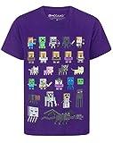 Minecraft Oficial Sprites Boy–Camiseta de Manga Corta para Mujer Morado Morado 12-13 Años