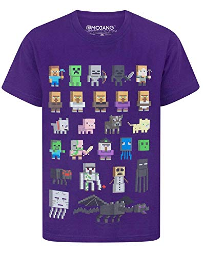 Official Minecraft Sprites Boy's T-Shirt (9-10 Years)