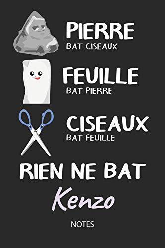 Rien ne bat Kenzo - Notes: Noms Personnalisé Carnet de notes / Journal pour les garçons et les hommes. Kawaii Pierre Feuille Ciseaux jeu de mots. ... cadeau de noël, cadeau anniversaire hommes.